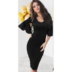 Платье с воланом на рукавах