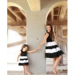 Комплект мама дочка юбка в сборку и майка
