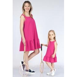 Комплект мама с дочерью волан по низу