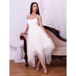 Платье с фатином ассиметрия
