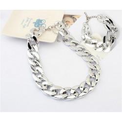 Комплект цепи серебро