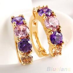 Серьги пурпурные