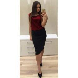 """Платье комбинированное юбка и блузка """"Vivien"""""""