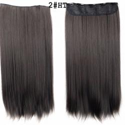 Волосы трессы термостойкие темный каштан 2