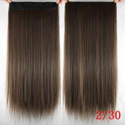 Волосы трессы термостойкие 2/30 темно-русые