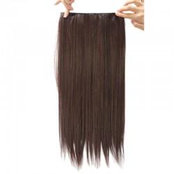 Волосы трессы каштановые 60см