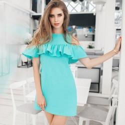 Платье Элина с рюшей