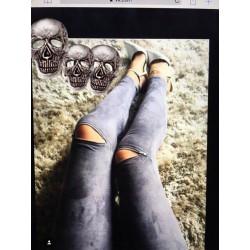 Лосины замшевые с молниями на коленях