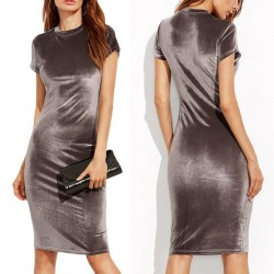 Платье бархатное