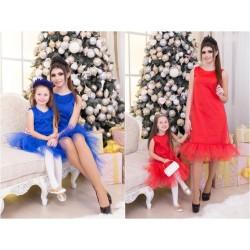 Платье мама и дочка  фемели лук Дива