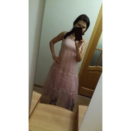 Платье-майка Шани двойная пышностью