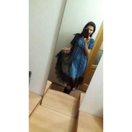 Платье с гипюром ресинчки и фатином