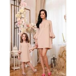 Платье мама дочка рукава клеш
