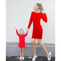 Комплект платьев футляров мама дочка