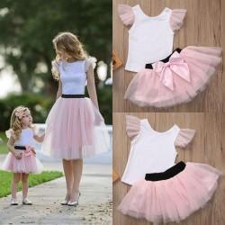 Комплект футболка и фатиновая юбка мама дочка