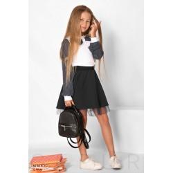 Юбка школьная с фатином под низом