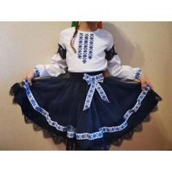 Комплект украиночка вышиванка юбка с фатином вышиванка блузка