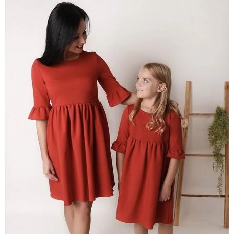 Комплект платьев мама дочка