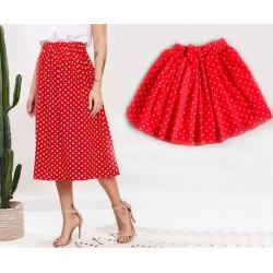 Комплект юбок в горошек мама дочка