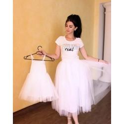 Комплект для мамы и дочки юбка фатиновая и сарафан