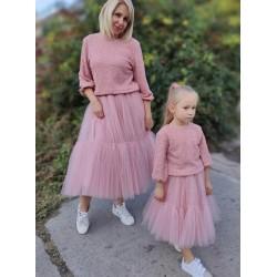 Комплект юбок фатиновых мама дочка американки