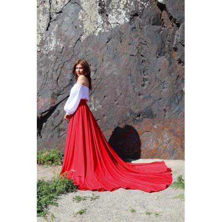 Юбка-платье трансформер с шлейфом для фотосессий