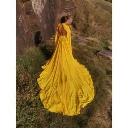 Платье со шлейфом для фотосессии