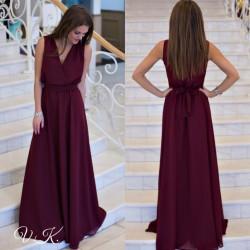 Платье в пол шифоновое Богиня