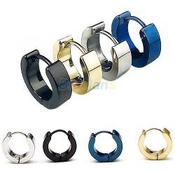 Серьги стальные серебро