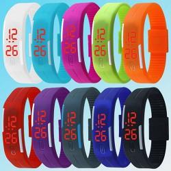Часы браслет, спортивные часы на силиконовом ремешке LED