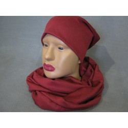 Шапка с шарфом хомутом трикотажные комплект