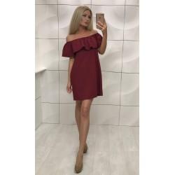Платье с воланом ультра