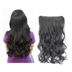 Трессы волосы черные волнистые