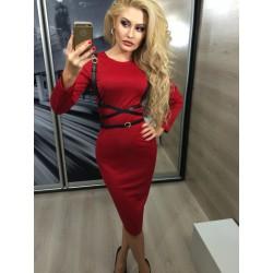 Платье  c портупеей