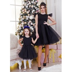 Платье мама и дочка с пышными фатиновыми юбками Вирджиния