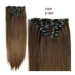 Волосы трессы термостойкие комплект каштановые